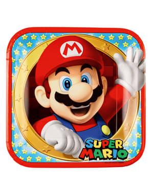 Super Mario Bros tallerkner 23 cm, 8 stk