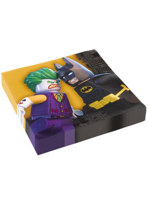 16 Serviettes en papier Lego Batman, le film