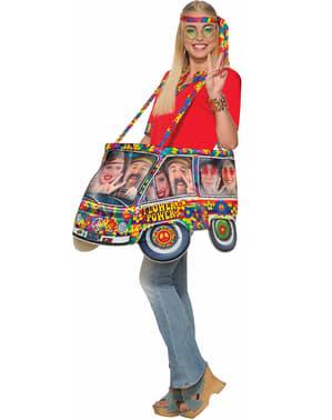 Disfraz de caravana hippie para adulto