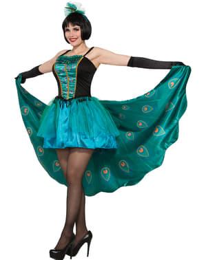 Disfraz de pavo real encantador para mujer