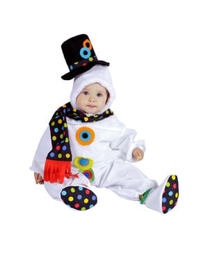 Costume da bebè pupazzo di neve