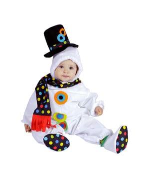 Kostium śnieżny bałwanek dla niemowlaka