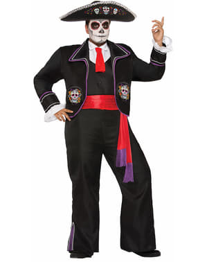 Man's Plus Size Mariachi Day of the Dead Costume