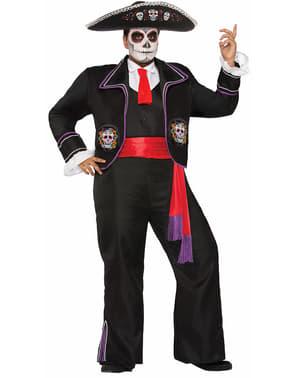 Pánský kostým Mariachi ve stylu Dne mrtvých nadměrná velikost