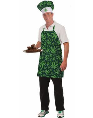 Kit disfraz de chef de la marihuana para adulto