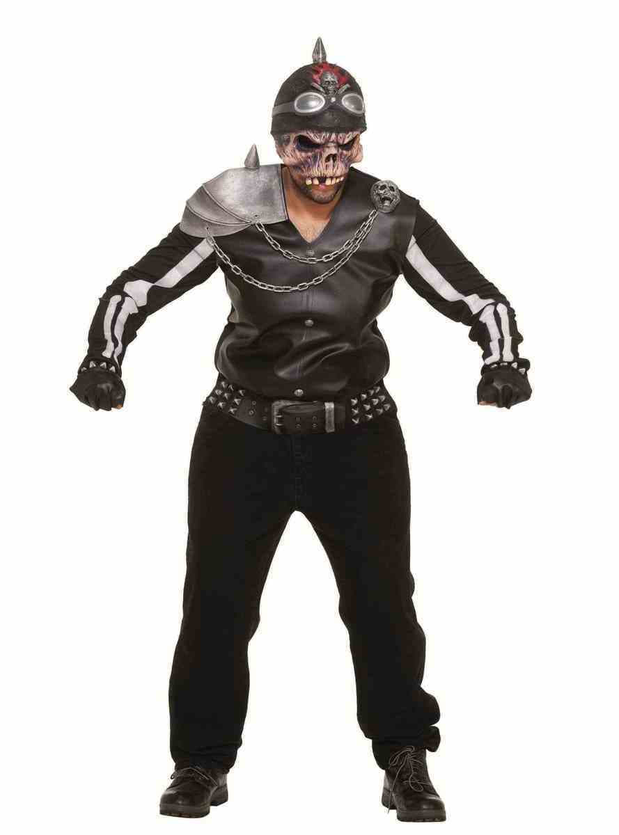 Man's Zombie Biker Costume. Buy on Funidelia at the best ...