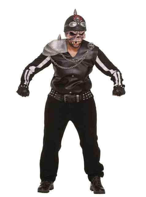Disfraz de motero zombie para hombre