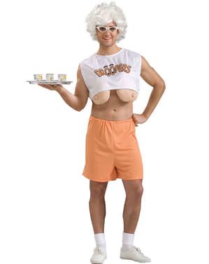 Strój kelnerka z cyckami na wierzchu
