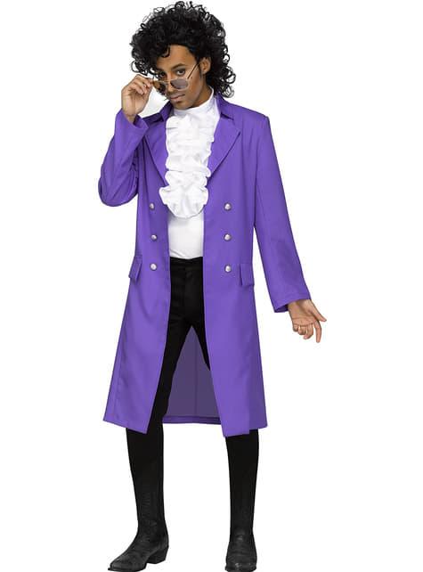 Disfraz de Prince Purple Rain para hombre talla grande