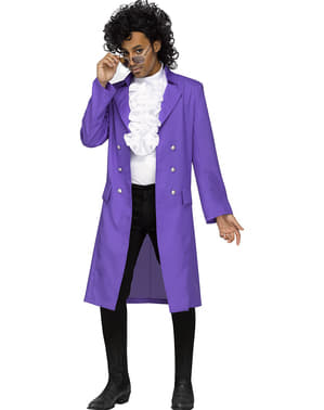Disfarce de Prince Purple Rain para homem tamanho grande