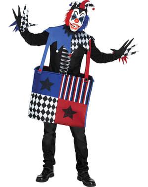 Déguisement clown musical terrifiant adulte