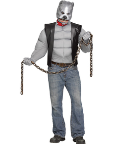 Disfraz de pitbull motorista para hombre