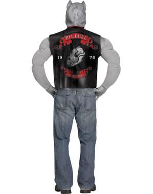 Costume da pitbull motociclista per uomo
