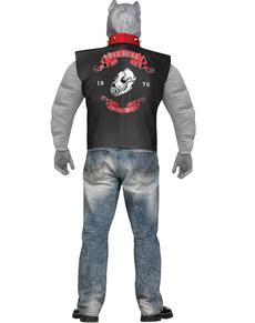 Disfraz de pitbull motorista para hombre talla grande