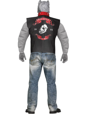 Man's Plus Size Biker Pit Bull Costume