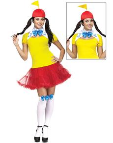 Disfraz de Tweedle Dee & Dum para mujer