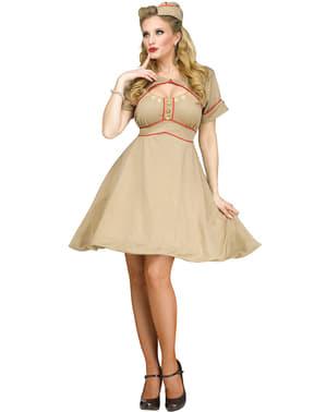 Costume da ragazza dell'esercito anni '50 per donna