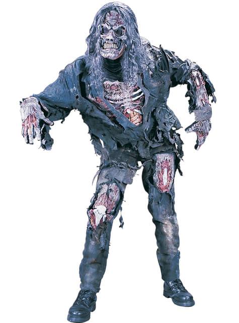 Disfraz de zombie hambriento 3D para hombre