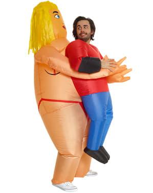 Costum gonflabil de femeie stripper pentru adult