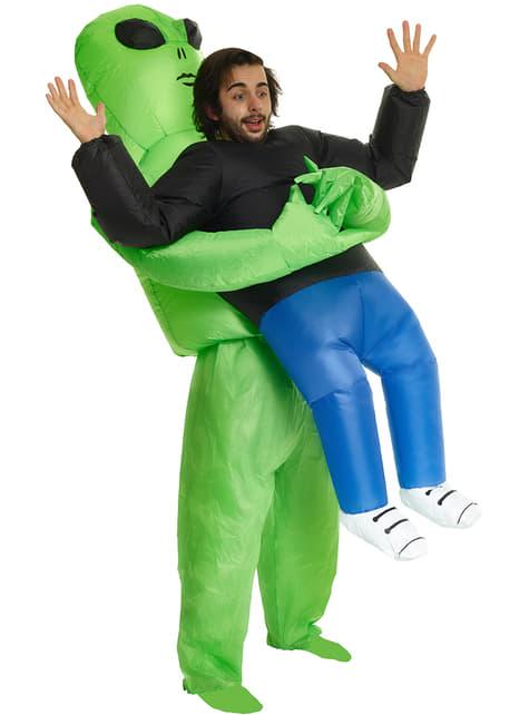 Disfraz de alien a punto de abducirme Pick Me Up para adulto