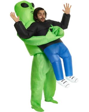Opblaasbaar Alien kostuum voor volwassenen