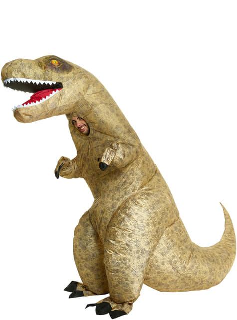 Fato de T-Rex insuflável para adulto