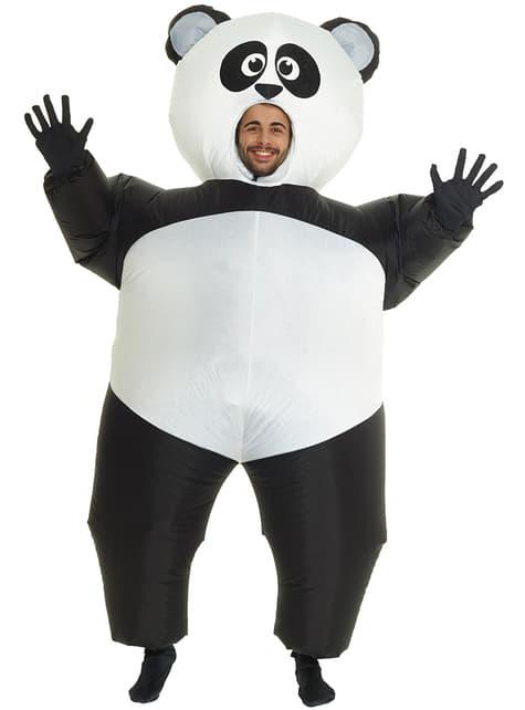 Déguisement de panda gonflable adulte