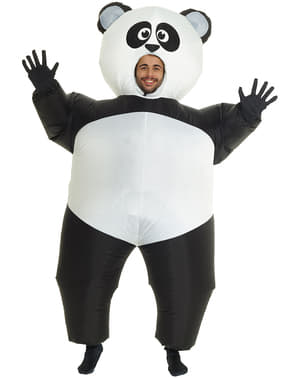 Aufblasbares Pandabären Kostüm für Erwachsene