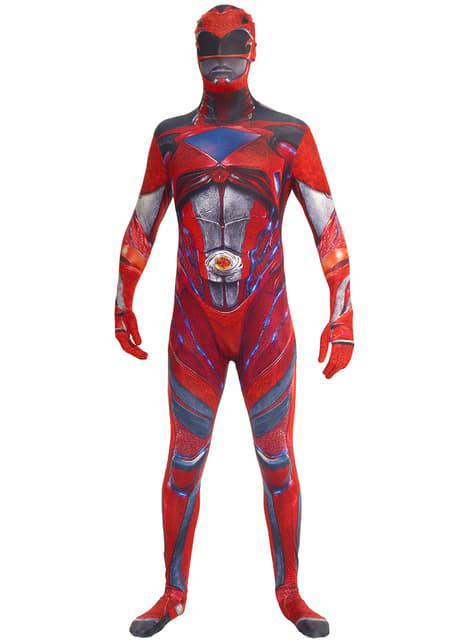 Fato de Power Ranger vermelho Movie Morphsuits para adulto