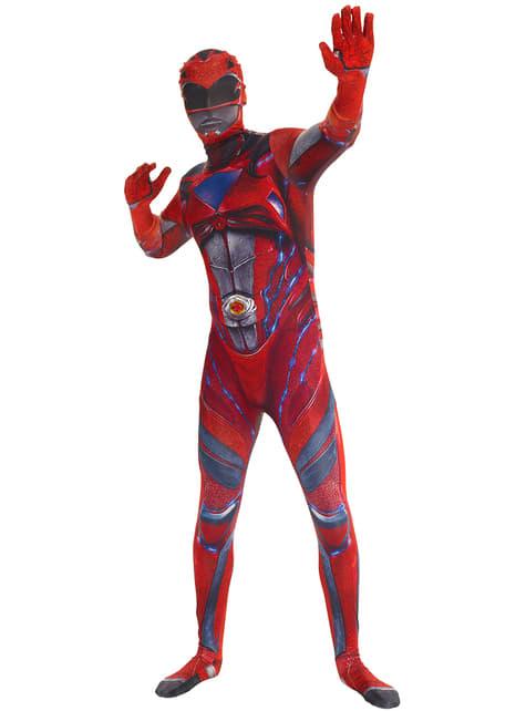 Adult's Red Power Ranger Movie Morphsuit Costume