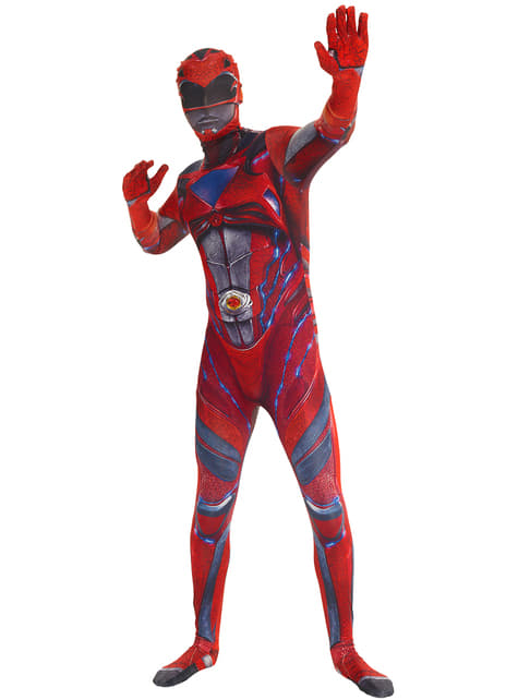 Disfraz de Power Ranger rojo Movie Morphsuits para adulto - adulto