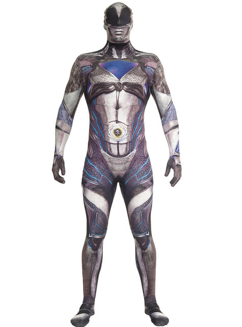Fato de Power Ranger preto Movie Morphsuits para adulto