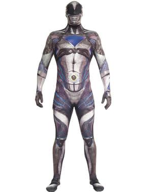 Power Ranger Movie Morphsuits Kostüm schwarz für Erwachsene