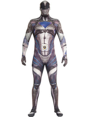 Power Ranger zwart Movie Morphsuits Kostuum voor volwassenen