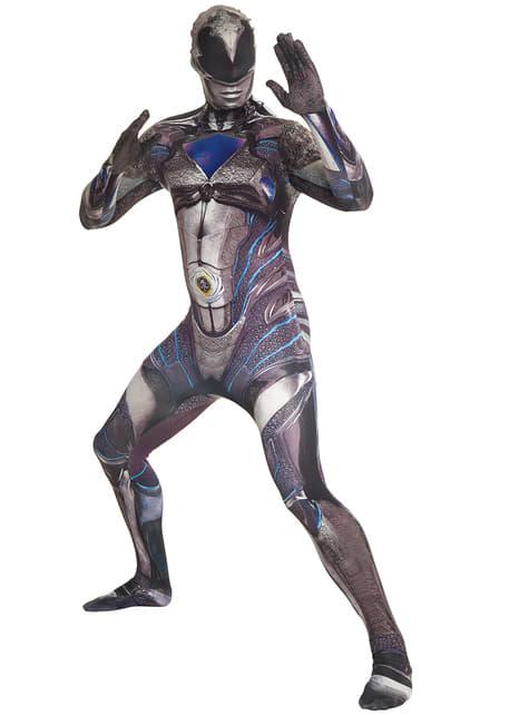 Adult's Black Power Ranger Movie Morphsuit Costume