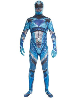 Kostium Power Ranger Movie cniebieski Morphsuits dla dorosłych