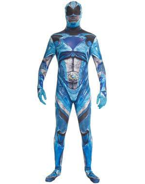 Power Ranger Movie Morphsuits Kostüm blau für Erwachsene