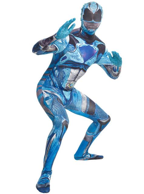 Täiskasvanu sinine võimsus Ranger Movie Morphsuit kostüüm