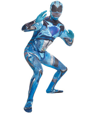 Fato de Power Ranger azul Movie Morphsuits para adulto