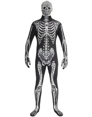 Morphsuit Day of the Dead kostume til voksne