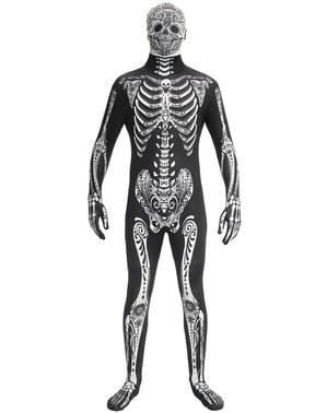 Tag der Toten Morphsuits Kostüm für Erwachsene