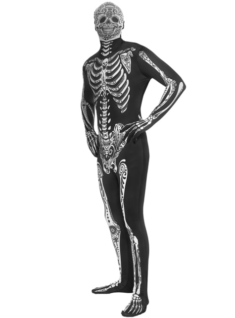 Adult's Day Of The Dead Morphsuit Costume