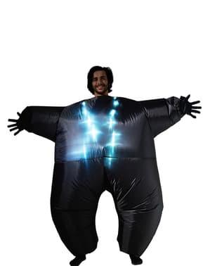 Déguisement lumineux noir gonflable adulte