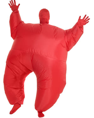 Disfraz hinchable luminoso rojo para adulto