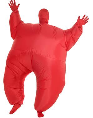 Nafukovací kostým pro dospělé červený svítící