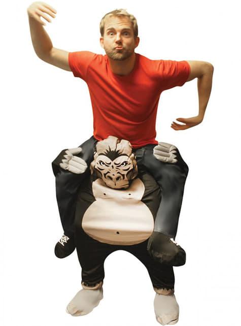 Disfraz de haciendo el mono a hombros de un gorila Carry Me