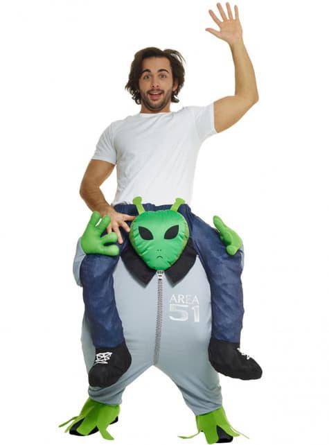 Disfraz a hombros de marciano para adulto