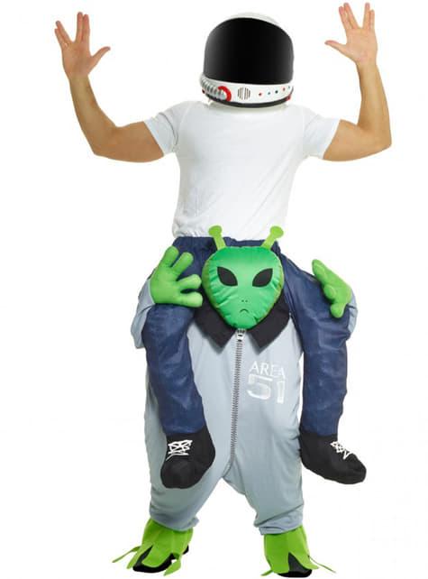 Disfraz a hombros de marciano para adulto - adulto