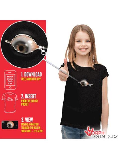 Camiseta con ojo inquietante cremallera infantil - infantil