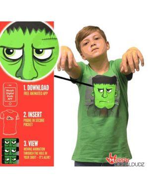 T-shirt med vred Frankenstein til børn